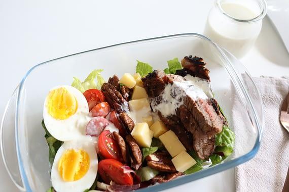 Keto Steak Cobb Salad Meal Prep1