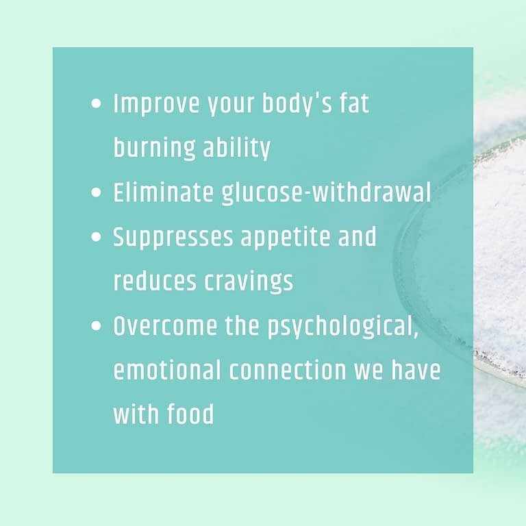 BHB helps your body become better at burning fat BHB could eliminate glucose-withdrawal BHB suppresses appetite and reduces cravings BHB could assist in deleting the psychological, emotional connection we have with food